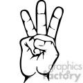 sign language letter w gif, png, jpg, eps, svg, pdf