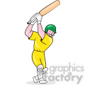 cricket player batting in yellow shape  gif, png, jpg, eps, svg, pdf
