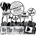 protesting we the people humanity first image  gif, png, jpg, eps, svg, pdf
