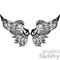 vinyl ready vector wing tattoo design 048