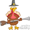 6902_Royalty_Free_Clip_Art_Pilgrim_Turkey_Bird_Cartoon_Character_With_A_Musket
