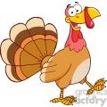 6846_Royalty_Free_Clip_Art_Happy_Turkey_Cartoon_Mascot_Character_Walking