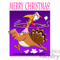 merry christmas turkey getting roped cartoon