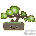 cartoon Bonsai illustration clip art image