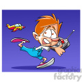 image of boy being chased by radio controlled plane avion a control remoto  gif, png, jpg, eps, svg, pdf