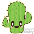 Cactus cartoon character illustration