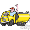 tanker truck driver wave ISO