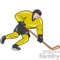 ice hockey player action side OL 008