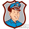 policeman winking front SHIELD
