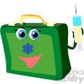 medical bag holding a needle