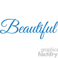 beautiful vector word
