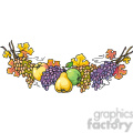 Garland of fruit vector clip art image