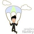 Parachute boy cartoon character vector image
