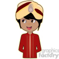Indian Groom cartoon character vector image