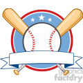 baseball banner with two bats and ball  gif, png, jpg, eps, svg, pdf
