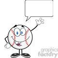 baseball ball cartoon mascot character waving for greeting with speech bubble  gif, png, jpg, eps, svg, pdf