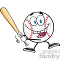 happy baseball ball swinging a baseball bat  gif, png, jpg, eps, svg, pdf