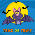 8949 Royalty Free RF Clipart Illustration Happy Vampire Bat Cartoon Character Flying Vector Illustration Greeting Card vector clip art image