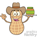 8745 royalty free rf clipart illustration cowboy peanut cartoon mascot character holding a jar of peanut butter vector illustration isolated on white gif, png, jpg, eps, svg, pdf