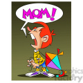 josh the cartoon character crying for mommy