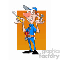 felix the cartoon handy man character holding a screw driver  gif, png, jpg, eps, svg, pdf