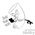 cartoon cigarette coughing black white