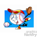 cartoon baseball mascot pitcher speedy  gif, png, jpg, eps, svg, pdf