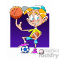 small boy playing all sports cartoon  gif, png, jpg, eps, svg, pdf