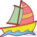 colorful cartoon sailboat