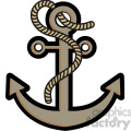 anchor with rope vector illustration