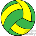 sports equipment green yellow volleyball