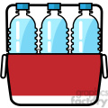 cooler loaded with water bottles icon