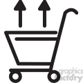 shopping cart out icon