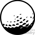 black white golf ball vector illustration