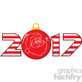 2017 new years eve greeting with christmas ball and santa face vector  gif, png, jpg, eps, svg, pdf