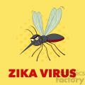 royalty free rf clipart illustration mosquito cartoon character flying vector illustration with background with text zika virus gif, png, jpg, eps, svg, pdf