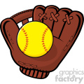 baseball glove and yellow softball vector illustration isolated on white background  gif, png, jpg, eps, svg, pdf