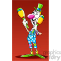 vector clipart image of anonymous person dressed like a clown  gif, png, jpg, eps, svg, pdf