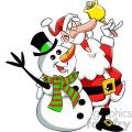 santa and snowman singing cartoon vector clip art  gif, png, jpg, eps, svg, pdf