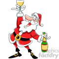 santa drinking chamagne cartoon  gif, png, jpg, eps, svg, pdf