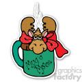 christmas mouse mug sticker  gif, png, jpg, eps, svg, pdf