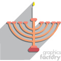 hanukkah menorah flat vector art no background