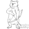 archer bear character book illustration