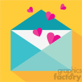 love letter envelope with hearts vector icon art