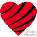 sliced heart svg cut files vector valentines die cuts clip art