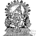 Ganesha god of success vintage 1900 vector art GF