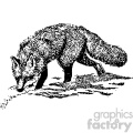 black and white vintage fox hunting vector vintage 1900 vector art GF