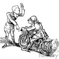 cartoon Stop that motorcycle vintage 1900 vector art GF