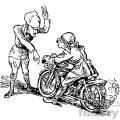 cartoon stop that motorcycle vintage 1900 vector art gf  gif, png, jpg, eps, svg, pdf