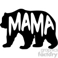 mama bear stencil vector svg cut files